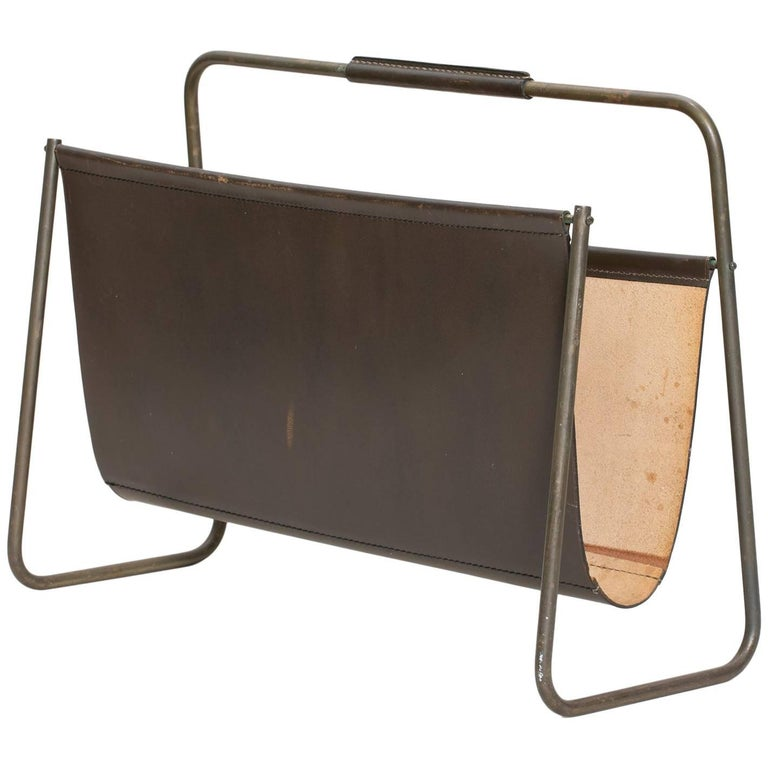 Magazine rack, 1950s, offered by Patrick Parrish
