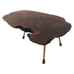 Carl Auböck Large Walnut Tree Trunk Table, Model #1, Austria, 1950s
