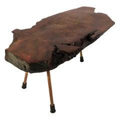 Carl Auböck Large Walnut Tree Trunk Table, Model #2, Austria, 1950s