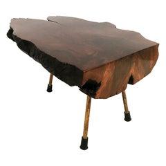 Carl Auböck Large Walnut Tree Trunk Table, Model #3, Austria, 1950s