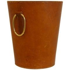 Carl Auböck Leather Waste Bin