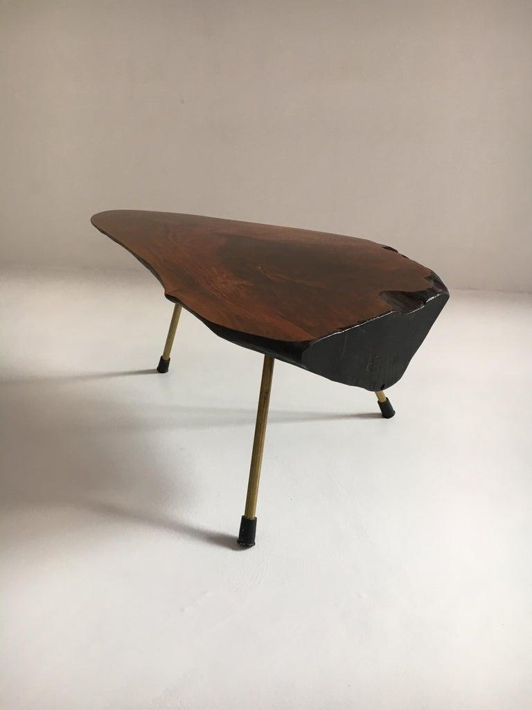 Carl Auböck Substantial Live Edge Tree Trunk Table, Austria, 1950s For Sale 4