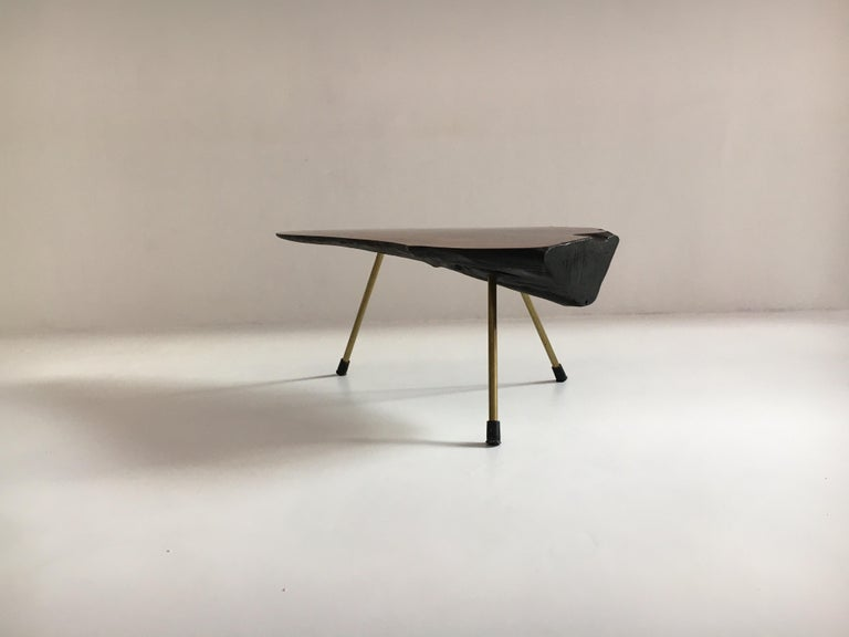 Carl Auböck Substantial Live Edge Tree Trunk Table, Austria, 1950s For Sale 6