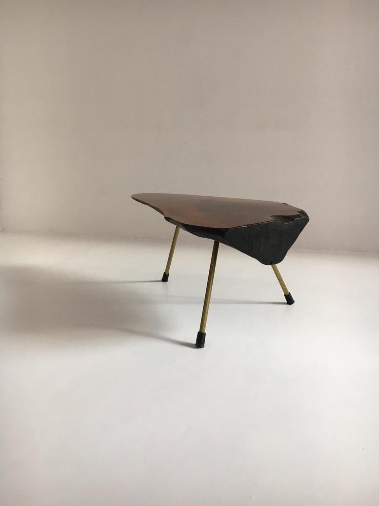 Carl Auböck Substantial Live Edge Tree Trunk Table, Austria, 1950s For Sale 7