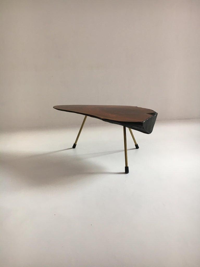 Carl Auböck Substantial Live Edge Tree Trunk Table, Austria, 1950s For Sale 8