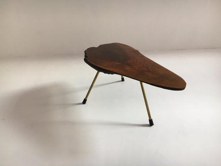 Mid-Century Modern Carl Auböck Substantial Live Edge Tree Trunk Table, Austria, 1950s For Sale
