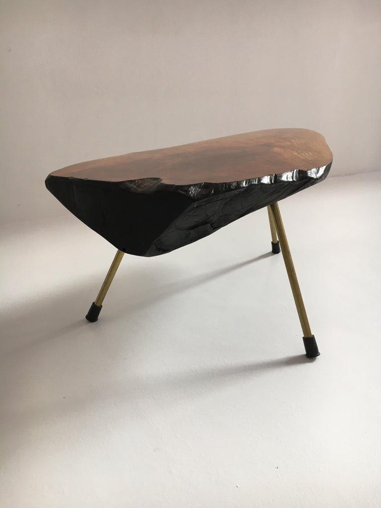 Carl Auböck Substantial Live Edge Tree Trunk Table, Austria, 1950s In Good Condition For Sale In Vienna, AT