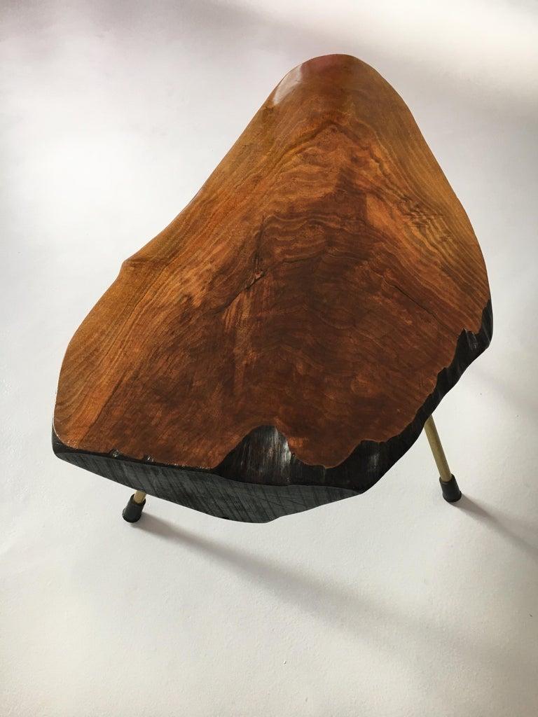 Mid-20th Century Carl Auböck Substantial Live Edge Tree Trunk Table, Austria, 1950s For Sale
