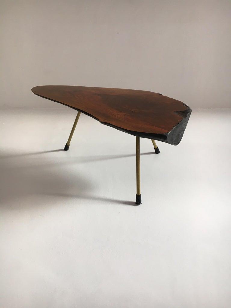 Carl Auböck Substantial Live Edge Tree Trunk Table, Austria, 1950s For Sale 1