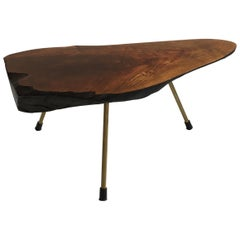 Carl Auböck II. Original Substantial Live Edge Tree Trunk Table, Austria, 1950s