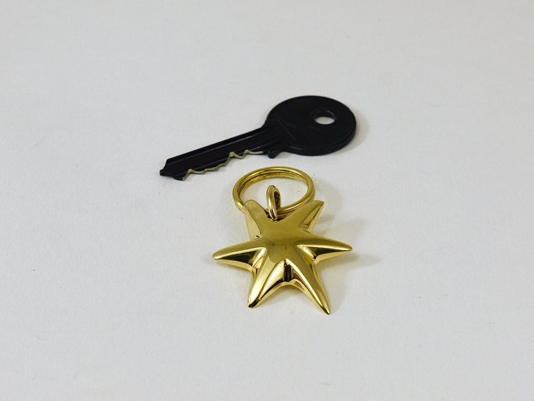 Mid-Century Modern Carl Auböck Midcentury Brass Star Sea Star Starfish Key Ring Chain Holder For Sale
