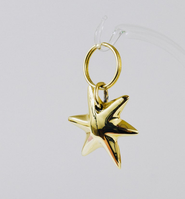 Austrian Carl Auböck Midcentury Brass Star Sea Star Starfish Key Ring Chain Holder For Sale