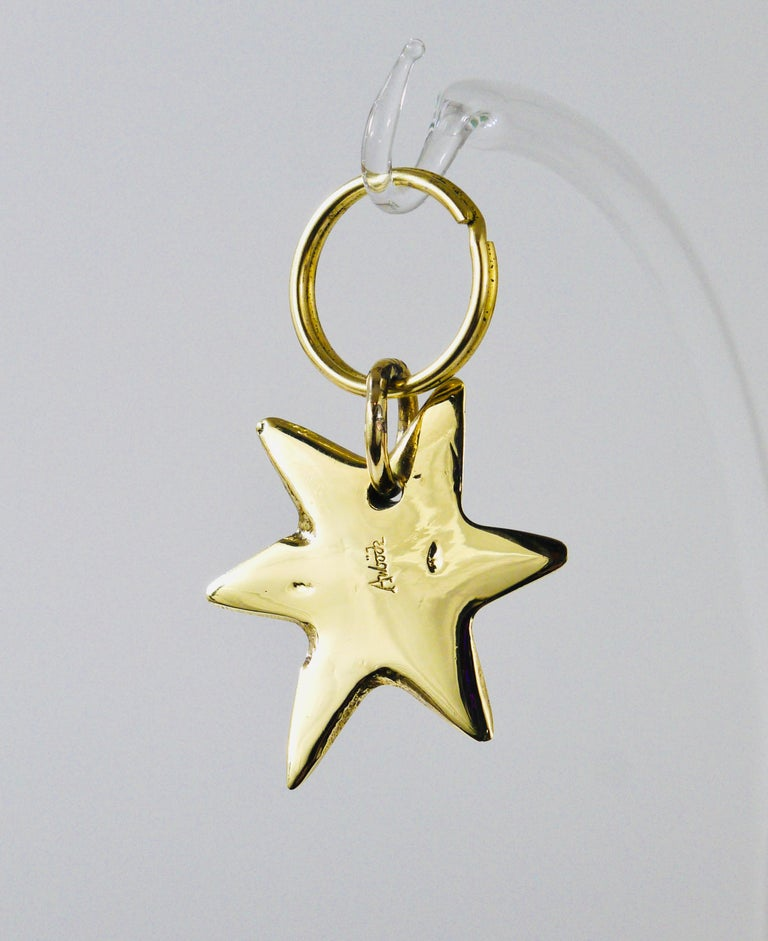 Carl Auböck Midcentury Brass Star Sea Star Starfish Key Ring Chain Holder In Excellent Condition For Sale In Vienna, AT