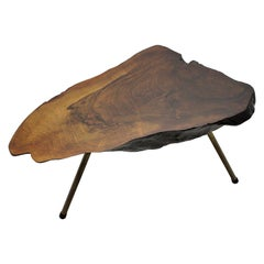 Carl Auböck Mid-Century Modern Vintage Walnut Tree Trunk Table, 1950s, Vienna