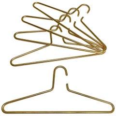 Carl Auböck Midcentury Brass Plated Coat Hangers, No. 5714, 1960s, Austria