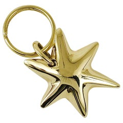 Carl Auböck Midcentury Brass Star Sea Star Starfish Key Ring Chain Holder