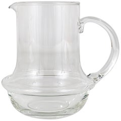 Carl Auböck Midcentury Glass Pitcher Jug by Ostovics Culinar, Austria, 1970s