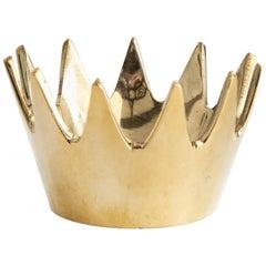 Carl Auböck Model #3600 'Crown' Brass Bowl