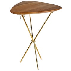 Carl Auböck Model #3642 Brass and Oak Table