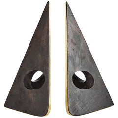 Carl Auböck Model #4100 Patinated Brass Bookends
