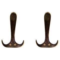 Carl Auböck Model #4982 Patinated Brass Hook