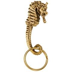Carl Auböck Model #5655 'Seahorse' Brass Figurine Keyring