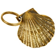 Carl Auböck Model #5663 'Shell' Brass Figurine Keyring