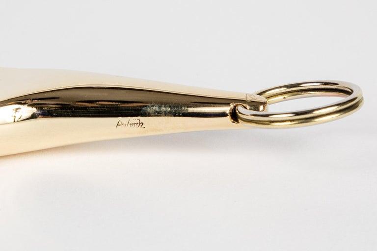 Carl Auböck Model #5732 'Hand' Brass Keyring For Sale 4