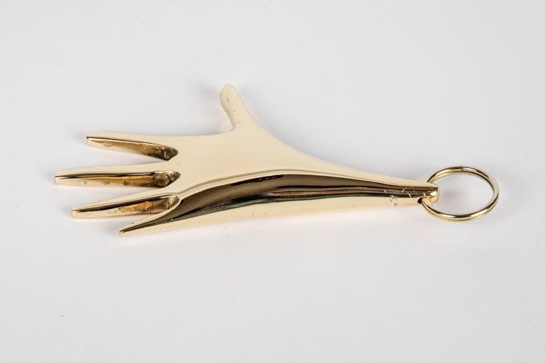 Contemporary Carl Auböck Model #5732 'Hand' Brass Keyring For Sale