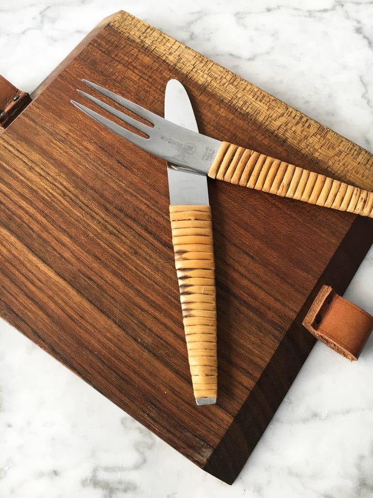 Carl Auböck Pic-Nick Board with Knife and Fork, Austria, 1950s For Sale 5