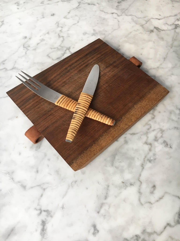 Carl Auböck Pic-Nick Board with Knife and Fork, Austria, 1950s For Sale 8