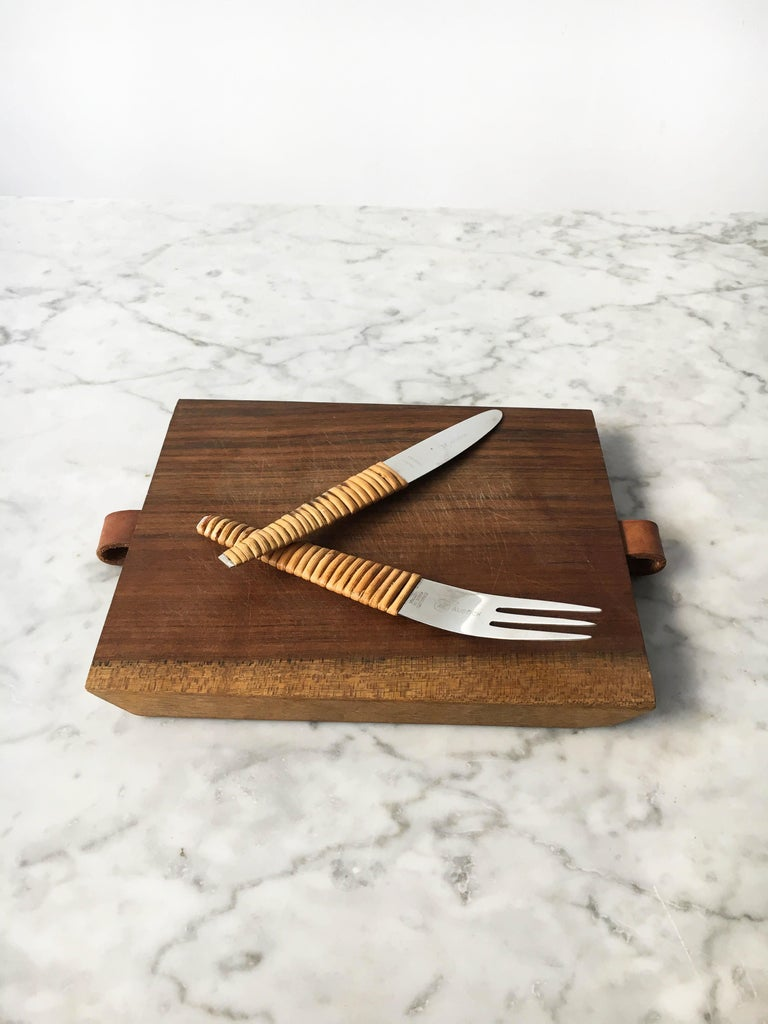 Carl Auböck Pic-Nick Board with Knife and Fork, Austria, 1950s For Sale 2