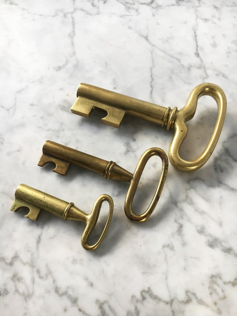 Carl Auböck Set of Three Key Corkscrews, Austria, 1950s In Good Condition For Sale In Vienna, Vienna