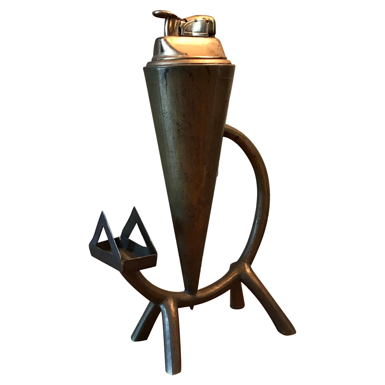 Brass Cat Table Lighter