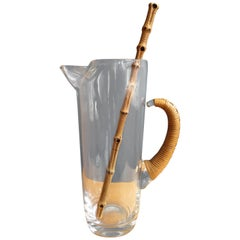 Carl Aubock Style Drink Pitcher with bamboo Stir