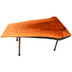 Carl Auböck 'Tree Trunk' Coffee Table in Walnut, Austria, circa 1950s