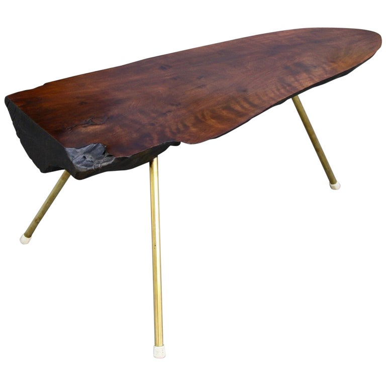 Tree trunk table, ca. 1950, offered by Sigmar