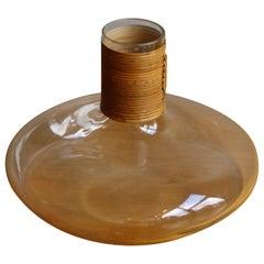 """Carl Auböck Vintage Squashed-Sphere Shaped Glass Vase or """"Tuberkulinkolben"""""""