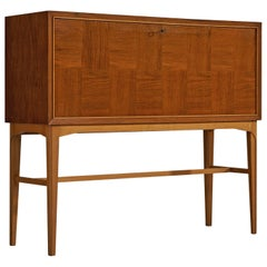 Carl Axel Acking Cabinet in Teak with Illuminated Dry Bar