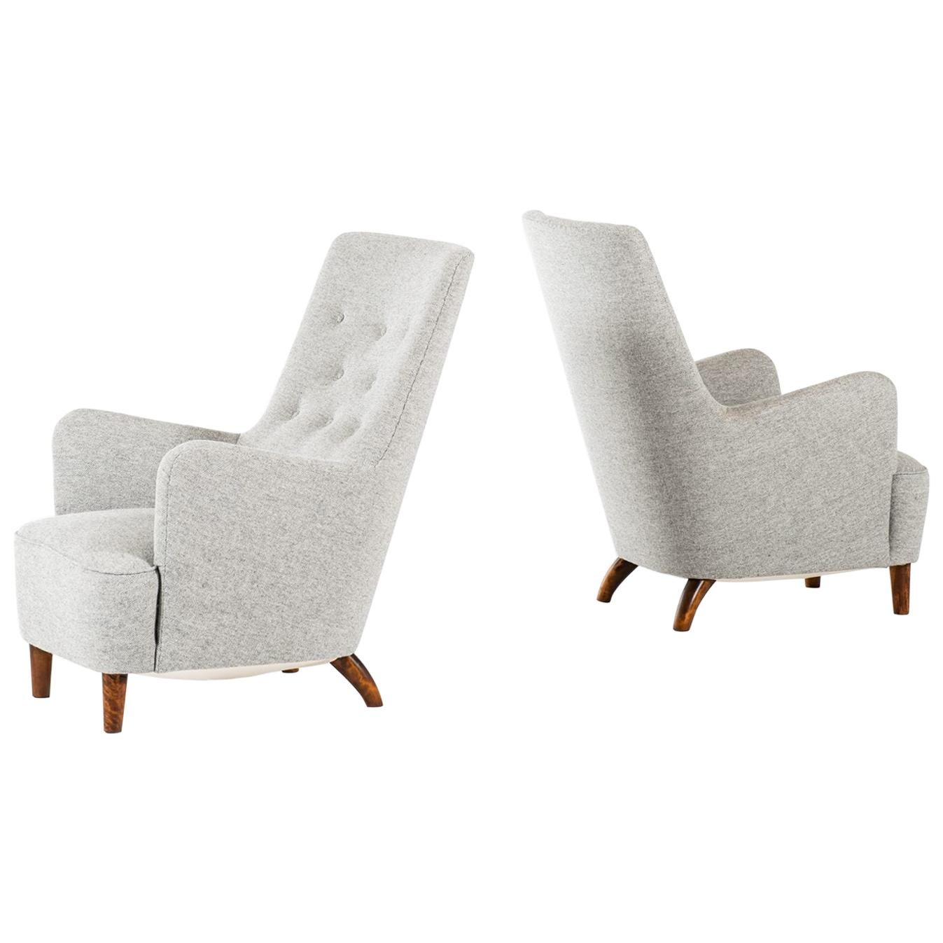 Carl-Axel Acking Easy Chairs Produced in Sweden