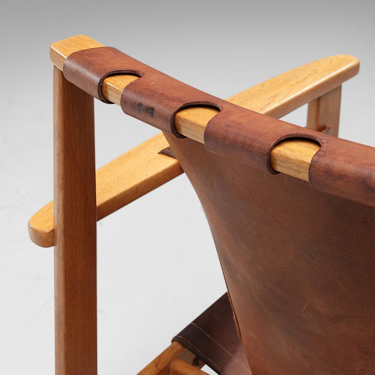 Carl-Axel Acking Pair of 'Trienna' Lounge Chairs in Oak and Leather 4