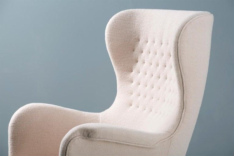 Scandinavian Modern Carl-Axel Acking Swedish Wing Chair, 1940s For Sale