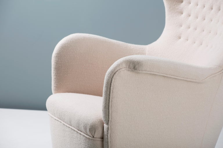 Carl-Axel Acking Swedish Wing Chair, 1940s For Sale 1