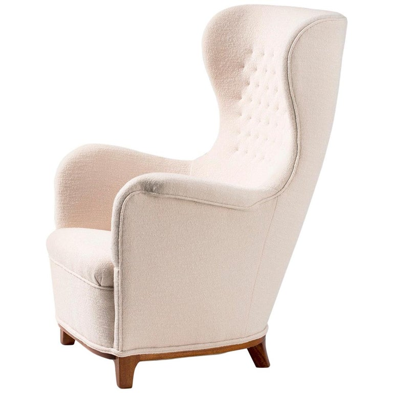 Carl-Axel Acking Swedish Wing Chair, 1940s For Sale