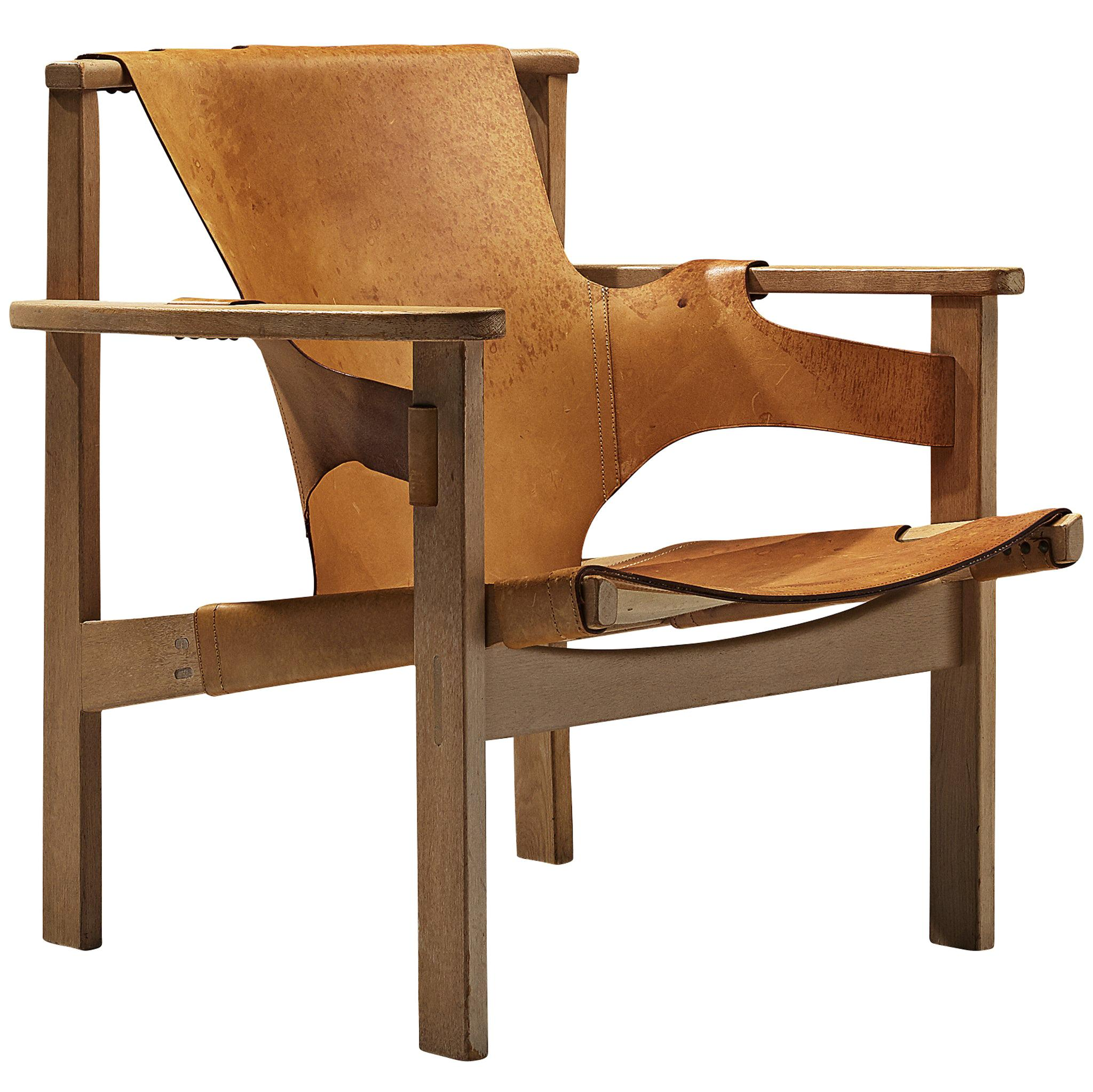 Carl-Axel Acking 'Trienna' Chair in Patinated Cognac Leather