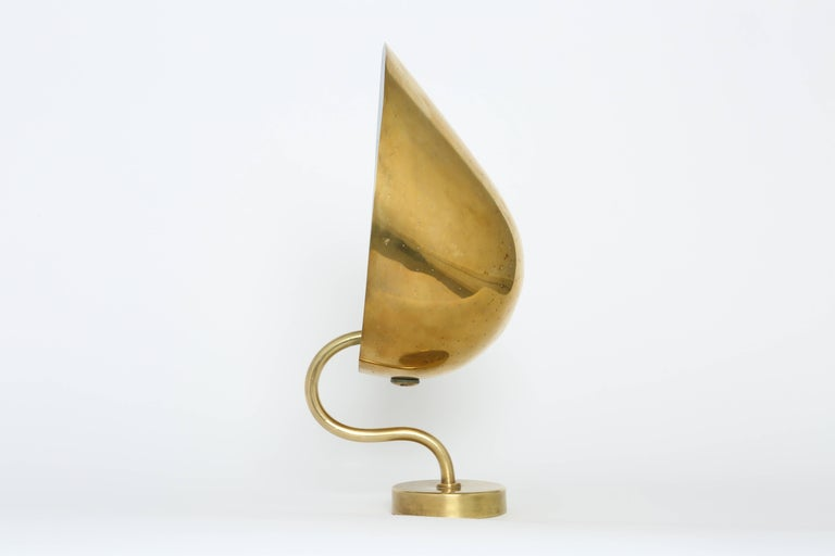 Mid-Century Modern Carl-Axel Acking Wall Lamps in Brass For Sale