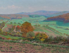"""""""View From Dietrichberg in Autumn"""" 1931 Oil Landscape"""