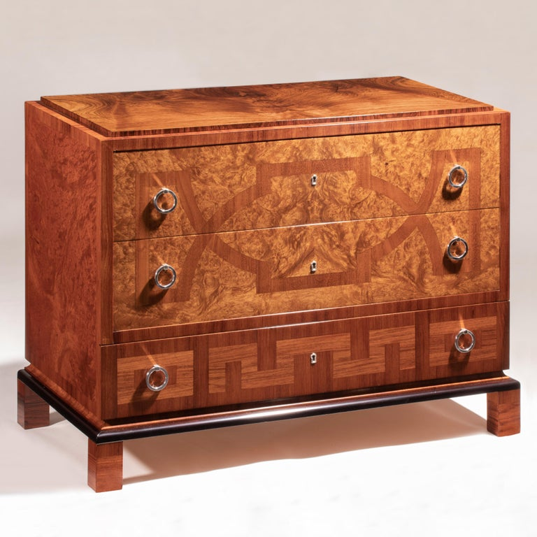Arguably the most extraordinary piece in our collection. The commode represents craftsmanship at its best; exclusively made from exceptionally Fine materials and likely is a unique masterpiece from the leading Swedish architect of the early 20th