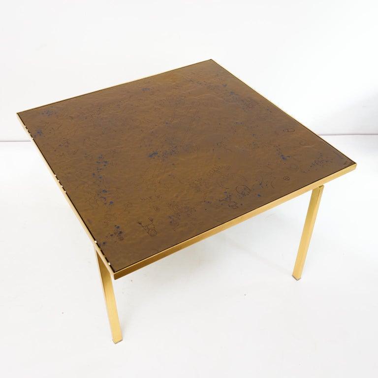 Polished Carl Bjørn, P. Törneman Enameled Triva Coffee Table Produced by Nk Stockholm For Sale
