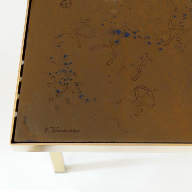 20th Century Carl Bjørn, P. Törneman Enameled Triva Coffee Table Produced by Nk Stockholm For Sale
